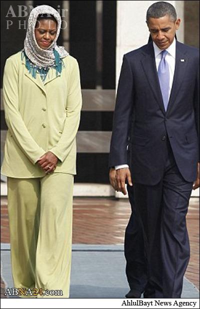روسری سر نکردن همسر اوباما جنجا به پا کرد + تصاویر