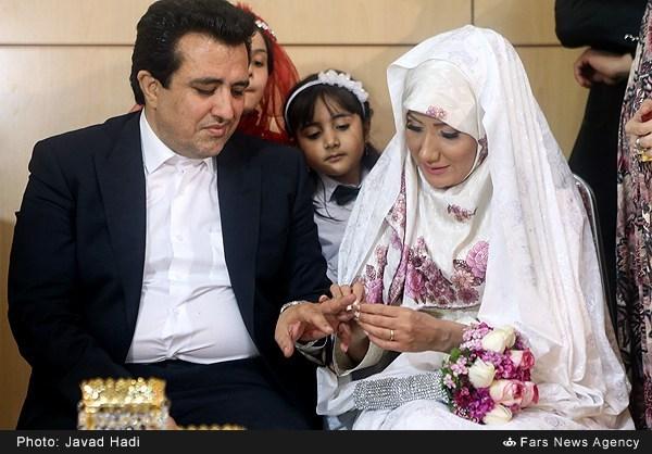 مراسم عقد حسینی بای خبرنگار سیما+تصاویر