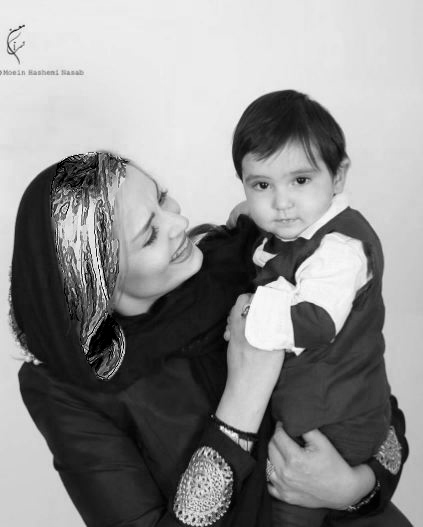سپیده خداوردی بازیگر زن کشور و پسرش آقا سانیار!+تصاویر