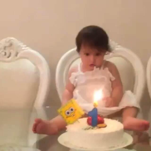 جشن تولد یک سالگی دختر خسرو حیدری!+تصاویر