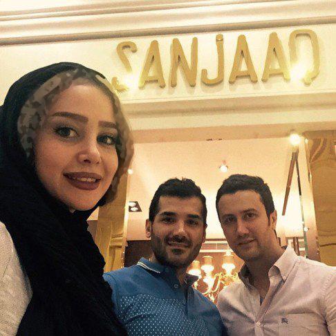 سلفی الناز حبیبی و شاهرخ استخری در فروشگاه وی!+عکس