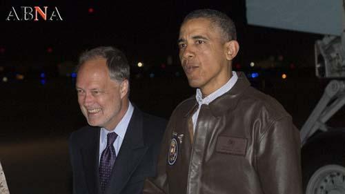 ورود شبانه اوباما به افغانستان +عکس