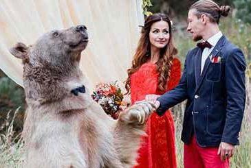 متفاوتترین مراسم عروسی جهان که توسط زوج روسی برگزار شد!+تصاویر