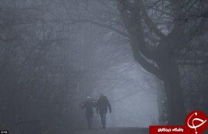 مه سنگین در انگلستان