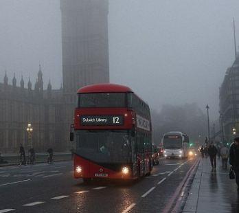 عکسهایی دیدنی از مه سنگین در انگلستان!+تصاویر