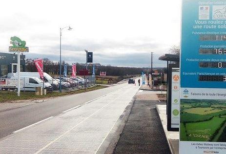 اولین جاده خورشیدی جهان و افتتاح آن در کشور اروپایی فرانسه!+تصاویر
