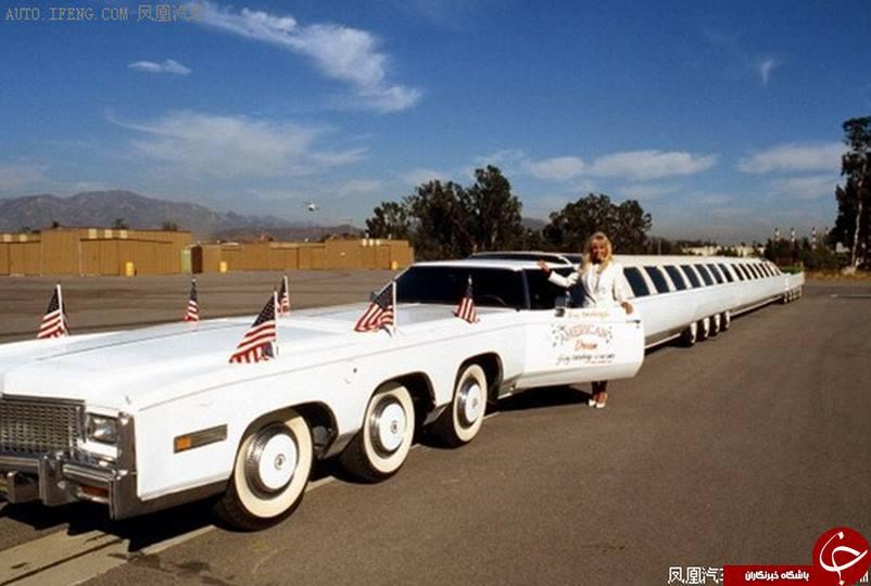 طولانی ترین خودرو موجود در جهان مربوط به یک کلکسیونر آمریکایی را ببینید!+تصاویر