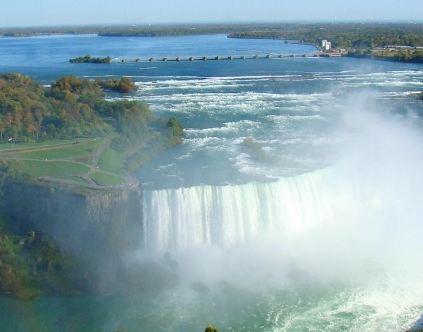 عکسهای آبشار نیاگارا در مرز میان کشور آمریکا و کشور کانادا+تصاویر