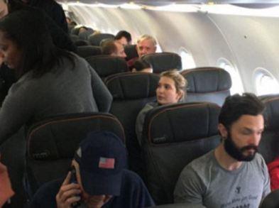 غافلگیر شدن دختر ترامپ در توسط یک مسافر خشمگین در هواپیما+عکس