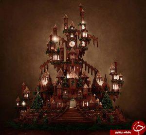 کیک زنجبیلی قلعه ای