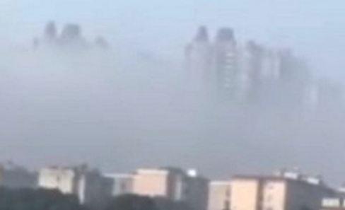 پدیدار شدن شهری معلق در آسمان کشور چین!+تصاویر
