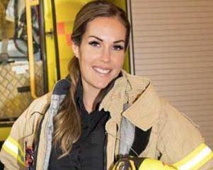 جذاب ترین دختر مأمور آتش نشانی در جهان!+تصاویر