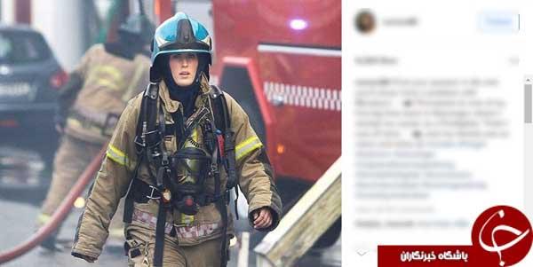 جذاب ترین مأمور آتش نشانی
