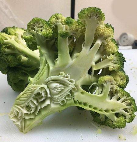 ساخت مجسمه با مواد غذایی