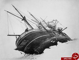 قایق در قطب جنوب