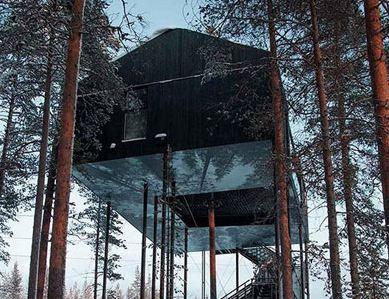 هتلی لوکس و درختی به نام اتاق هفتم!+تصاویر