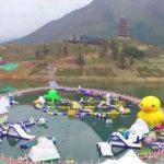 بزرگترین پل پیاده روی شناور دنیا در چین!+تصاویر