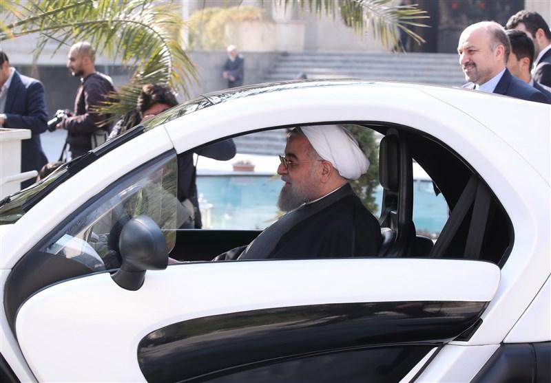 رانندگی دکتر روحانی