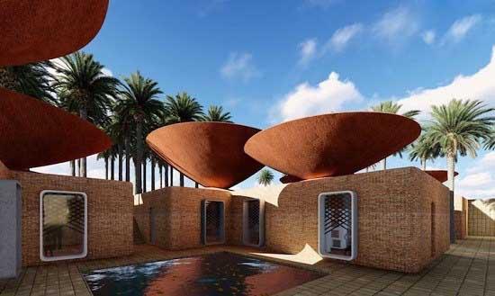 حل مشکل کمبود آب با ساختن سقف های کاسه ای!+تصاویر