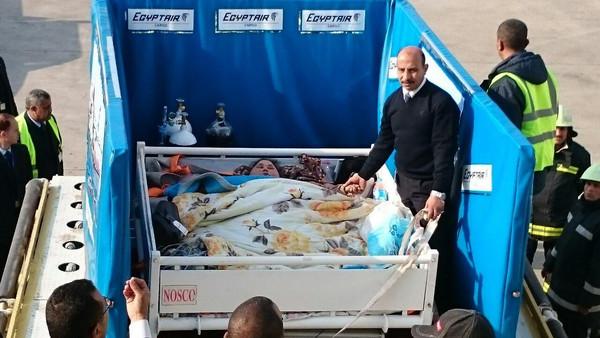زن مصری پانصد کیلویی و انتقال آن به وسیله جرثقیل و هواپیمای باری!+تصاویر