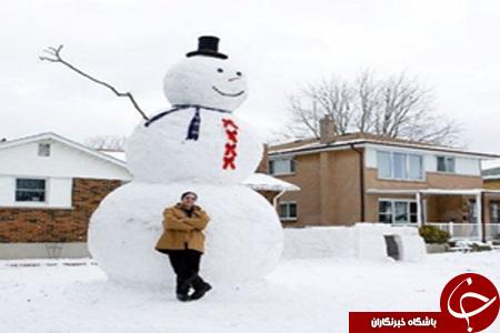 بزرگترین آدم برفی در کانادا