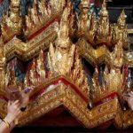پادشاه تایلند با ارابه ای از طلا و آینه رهسپار سفر ابدی اش می شود!+تصاویر