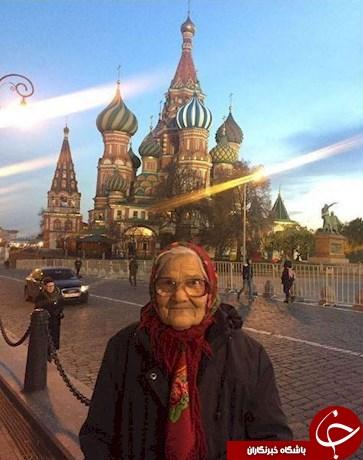 پیرزن خوش گذران روسی