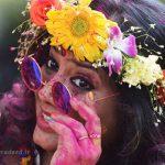 فستیوال رنگ ها یکی از جشنهای سنتی هند!+تصاویر