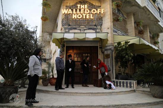 بنکسی هنرمند گمنام و افتتاح هتل در شهر فلسطینی بیت اللحم!+تصاویر