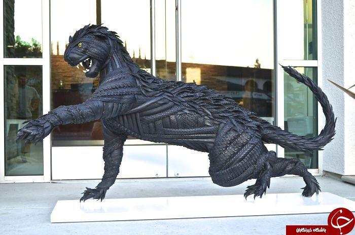 مجسمه سازی با لاستیک