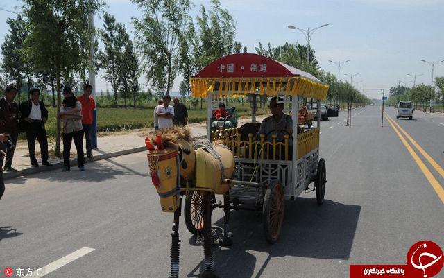 کشاورز چینی و ساخت یک اسب آهنی