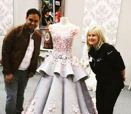 کیک عروسی شگفت انگیز و جالب شبیه به لباس عروس!