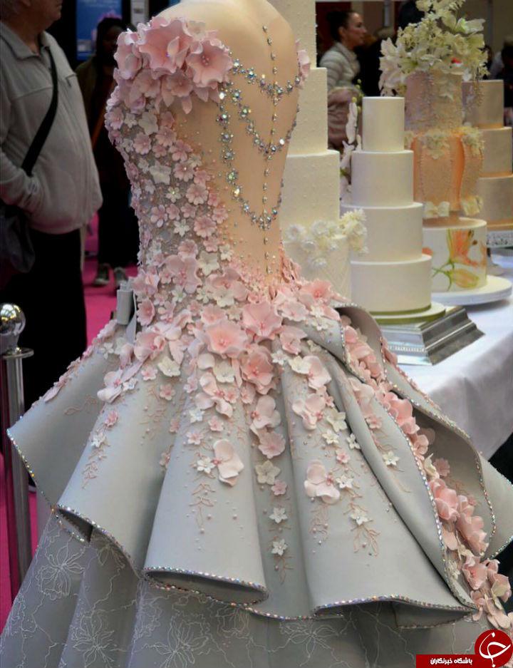 کیک عروسی شگفت انگیز