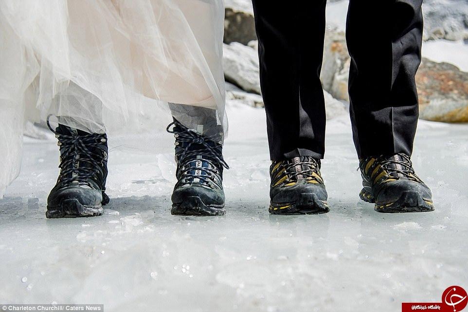 مراسم ازدواج در مرتفع ترین نقطه جهان