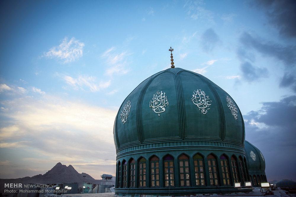 مسجد مقدس جمکران در شب و روز نیمه شعبان!+تصاویر