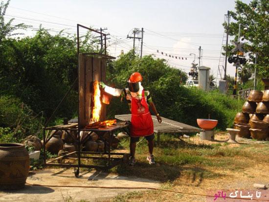 کباب کردن مرغ
