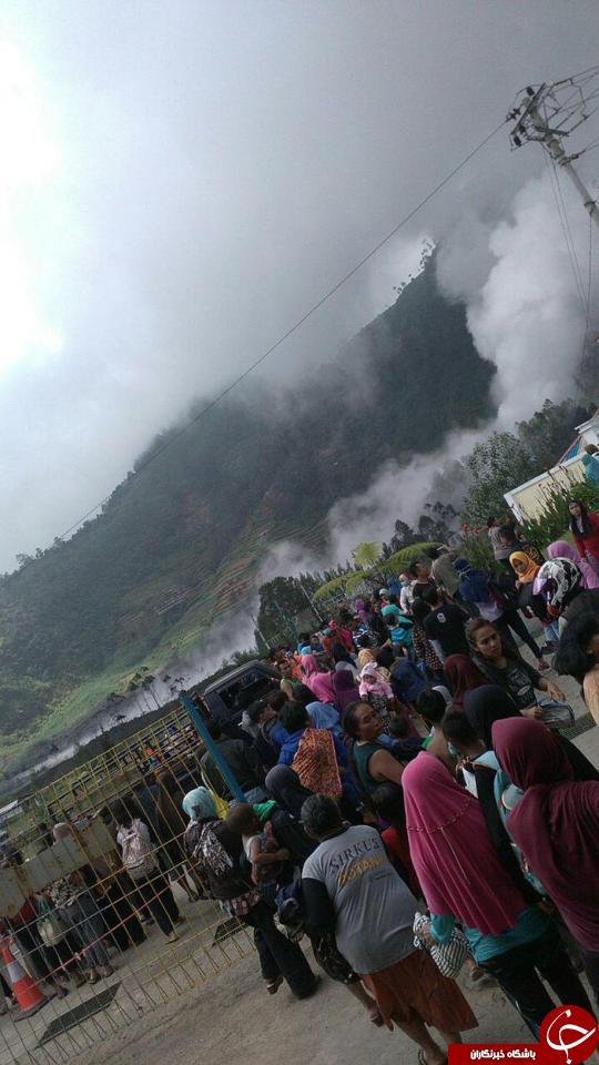 فعال شدن ناگهانی کوه آتشفشان