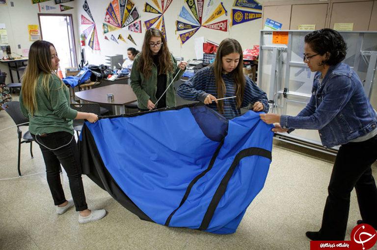 چادر قابل حمل برای بی خانمانها