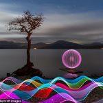 ایجاد مناظر دیدنی و نقاشی با نور!