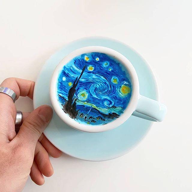 طراحی روی قهوه