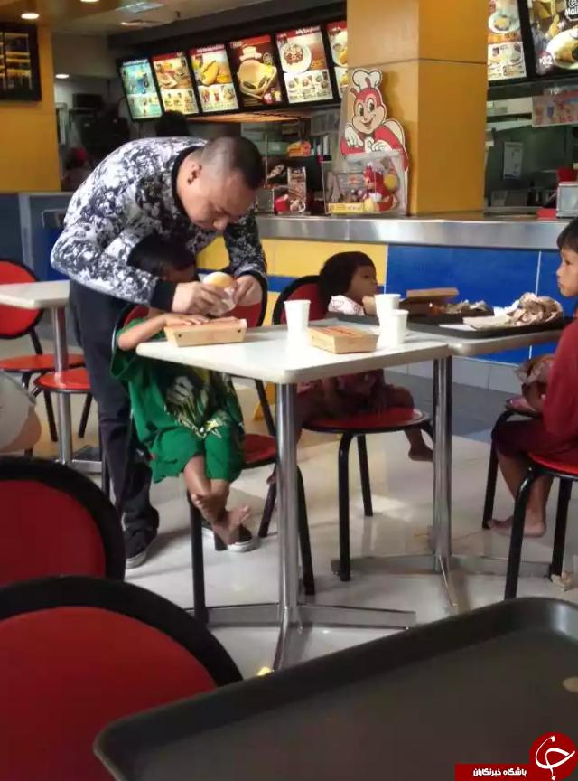 عمل انسان دوستانه مشتری رستوران