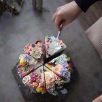 هنر تزئین کیک بصورت دسته گل های دیدنی!