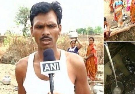 تلاش مرد هندی برای آب