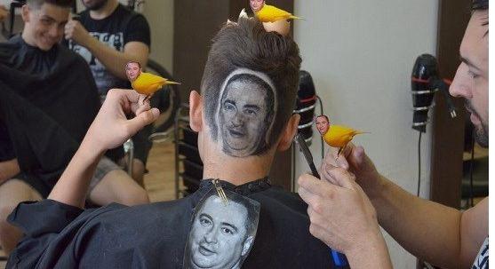 تراشیدن پرتره روی سر