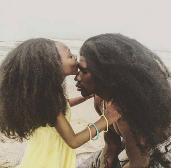 موهای عجیب یک پدر و دختر
