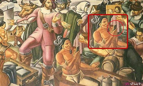 تلفن همراه در نقاشی 400 ساله