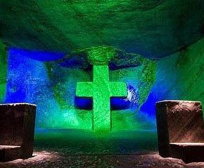 کلیسای نمکی زیپاکویرا در زیرزمین در کلمبیا را ببینید!
