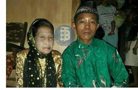 ازدواج پسر جوان با پیرزن