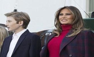 حاشیه ساز شدن ملانیا ترامپ در جشن شکرگزاری!