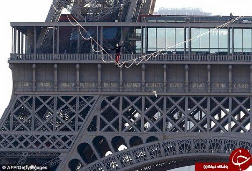 بندبازی روی برج ایفل